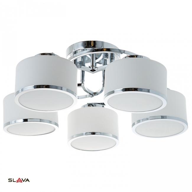 Люстра потолочная на 5 ламп белая (MT002/5)