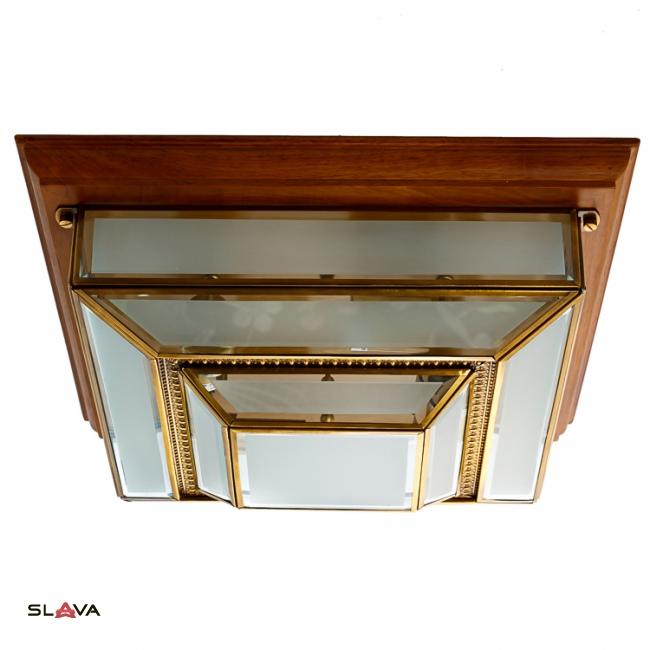 Светильник потолочный с деревянной основой квадратный (FN022/4)