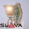 Бра настенное с 1 плафоном и цветочной росписью (YA001/1)