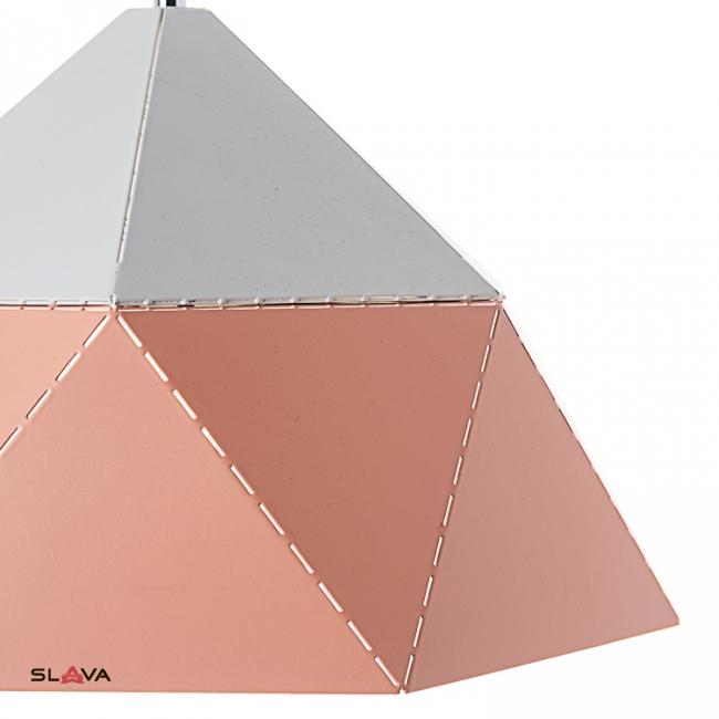 Люстра-подвес бело-персиковая с треугольным дизайном (NI002/L/peachy)