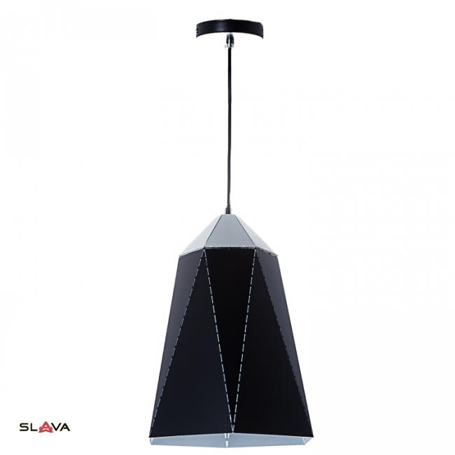 Люстра-подвес чёрная с треугольным дизайном вытянутой формы (NI002/S/black)