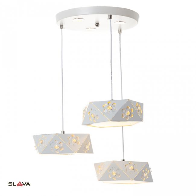 Люстра-подвес на 3 лампы с треугольным дизайном (FE003/3)