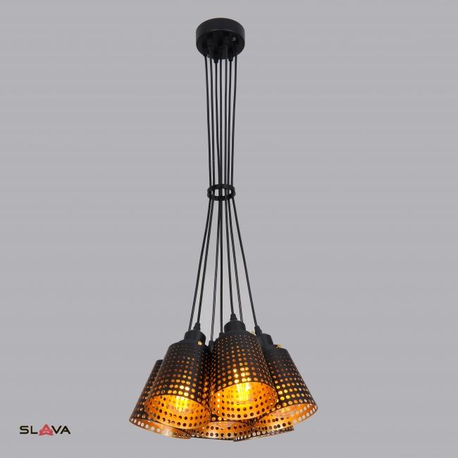 Люстра на 7 ламп с перфорацией (ZW052/7)