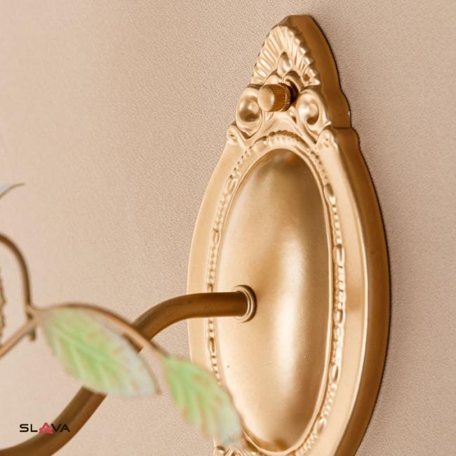 Бра бронзового цвета на 1 свечу с цветочным декором (SA024/1)