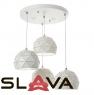 Люстра-подвес на 4 лампы-полусферы с треугольным дизайном (FE007/4)