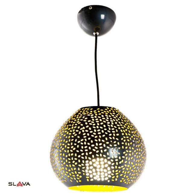 Светильник черный с золотым перфорированный (OU140/BL)