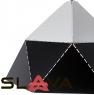 Люстра-подвес черно-белая с треугольным дизайном (NI002/L/black)