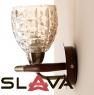 Бра коричневого цвета с фигурным плафоном из стекла (NN013/1W)